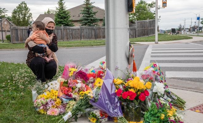 Kanada'da minibüs şoförü tarafından katledilen 4 Müslüman için anma töreni