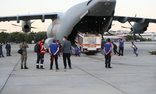 Türkiye'den Lübnan'a yardım eli: Ankara'dan uçak kalktı