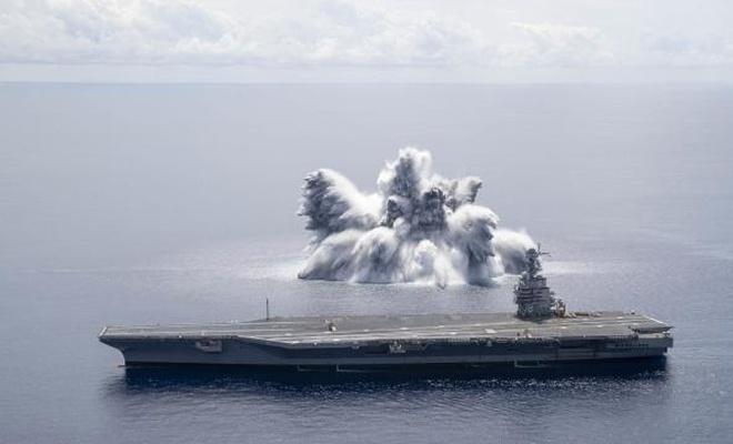 ABD'de uçak gemisine dayanıklılık testi: 18 tondan fazla patlayıcı kullanıldı