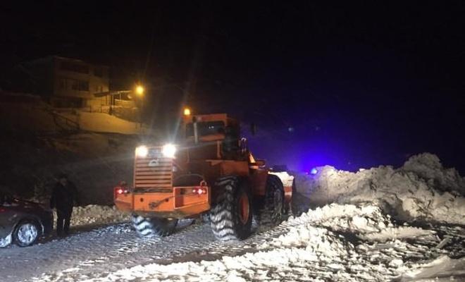 Trabzon'da çığ meydana geldi