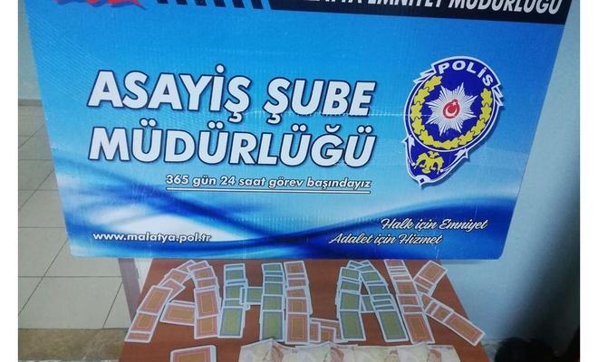 Malatya'da kumar operasyonunda 33 kişiye cezai işlem uygulandı