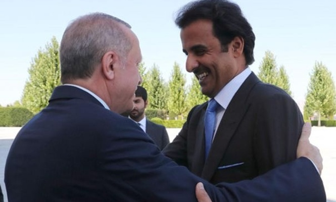 Serokomar Erdogan bi Şêx Temîmê Mîrê Qatarê re hevdîtin kir