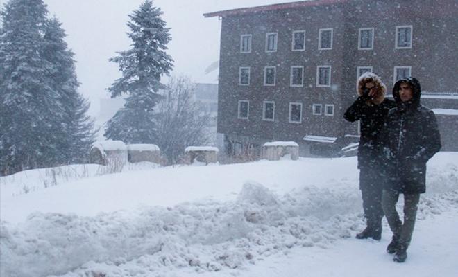 Kar kalınlığı 41 santimetreye ulaştı