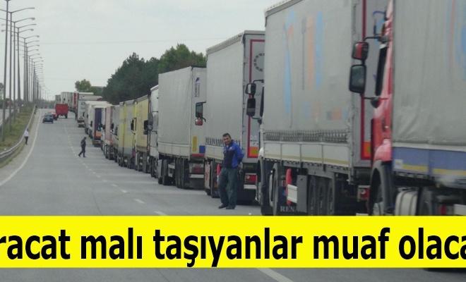 İhraç malı taşıyana ÖTV muafiyeti Resmi Gazete`de
