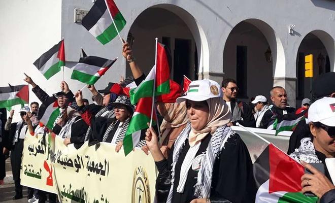 İhanet anlaşması Fas'ta protesto edildi