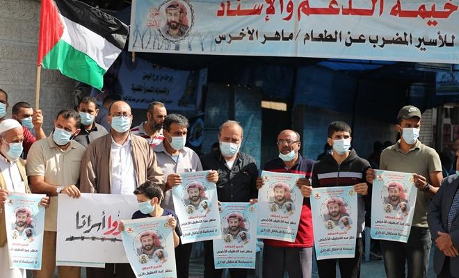 Mahir el-Ahres'e destek gösterileri sürüyor