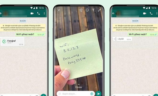 WhatsApp'tan kaybolan fotoğraf ve video özelliği