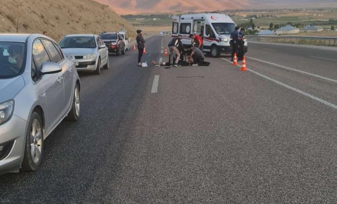 Van'da meydana gelen motosiklet kazasında 1 kişi yaralandı