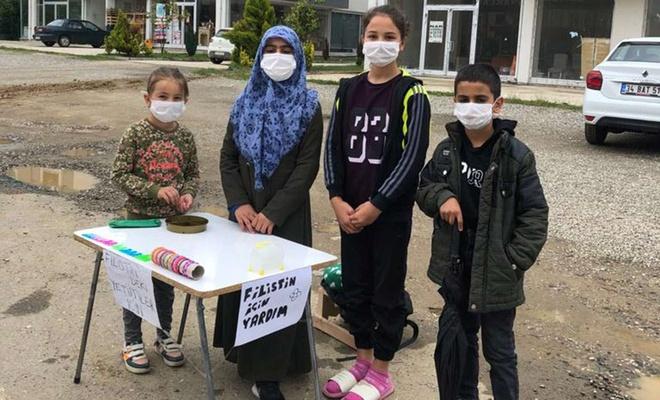 Düzceli çocuklardan Filistin'deki kardeşleri için yardım kampanyası