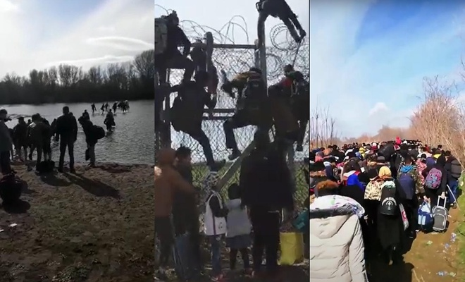 Göç İdaresi mültecilerin Yunanistan'a geçiş videolarını yayımladı