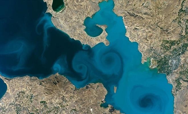 Van Gölü'nün uzaydan çekilen fotoğrafı NASA'nın favorileri arasında yer aldı