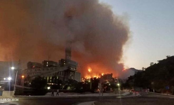 Son dakika: Alevler termik santrale sıçradı