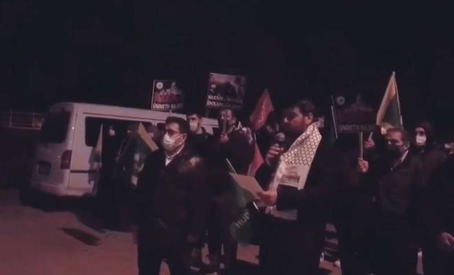 İşgalci terör şebekesinin Kudüs ve Mescidi Aksa'ya saldırıları Kocaeli'de tel'in edildi