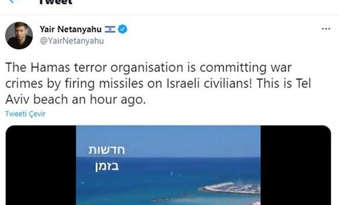 Netanyahu'nun oğlundan kargaları bile güldürecek tweet