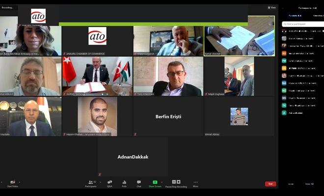ATO'dan, Filistin ile ticari iş birliği için girişim