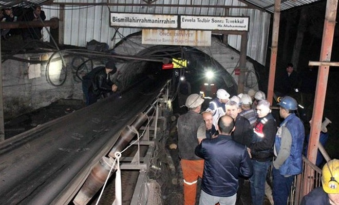 Amasya`da maden ocağında göçük