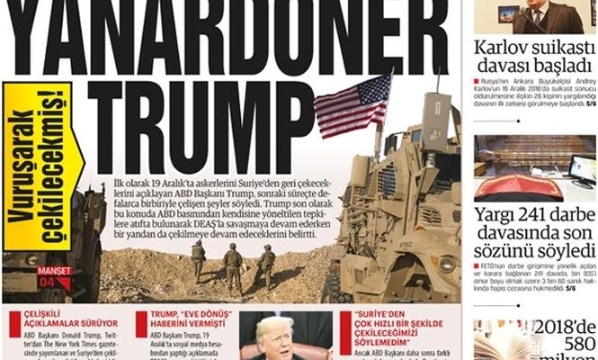 Vuruşarak çekilecekmiş! Yanardöner Trump