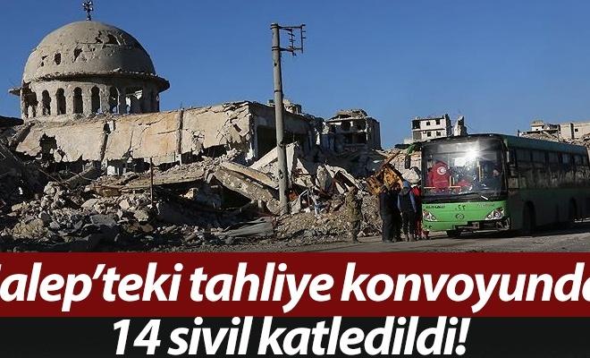 Halep`teki tahliye konvoyunda 14 sivil katledildi!