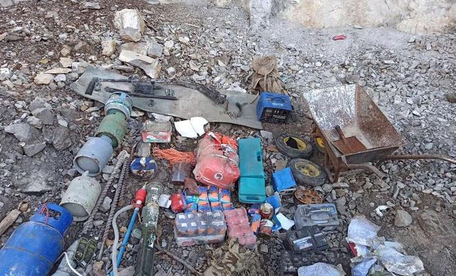 Irak'ın kuzeyinde PKK'ye ait mühimmat bulundu