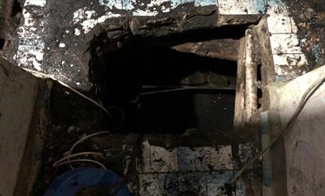 Evin altında kaçak kömür madeni kurmuşlar