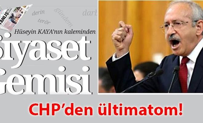 CHP`den ültimatom!