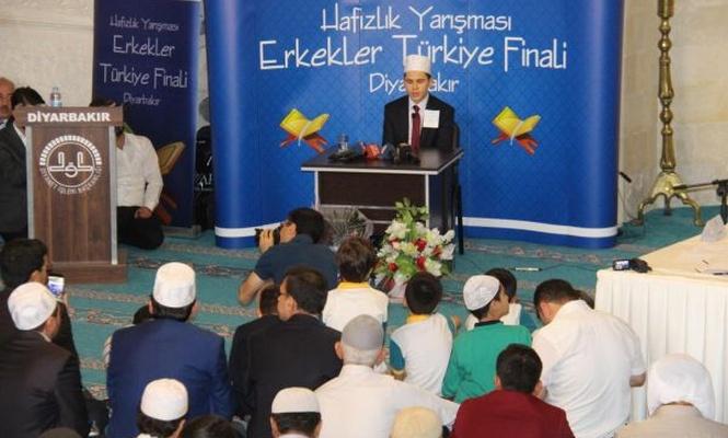 Hafızlık Yarışması Erkekler Türkiye Finali Diyarbakır`da yapıldı