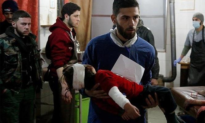Baas rejiminin Doğu Guta`ya saldırılarında 9 sivil öldü