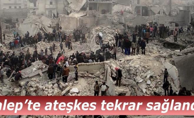 Halep`te ateşkeste yeniden uzlaşıldı