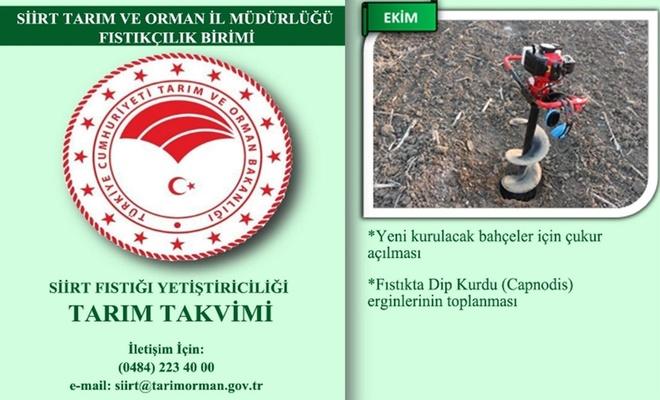 Siirt'te kurulan Fıstıkçılık Birimi'nden duyuru