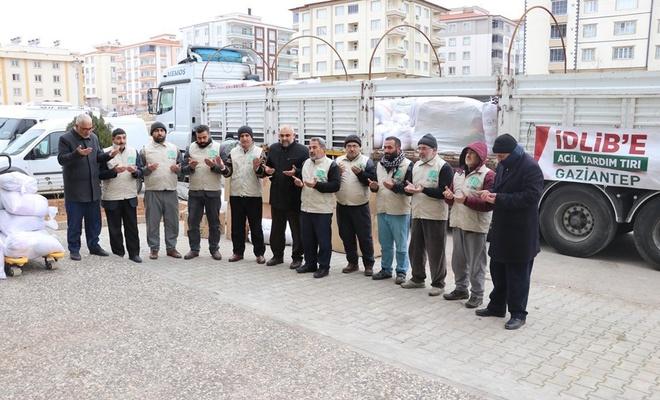 Gaziantep Umut Kervanı İdlib'e 1 TIR yardım gönderdi