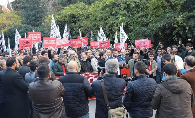 Zalim Çin'in zulmü İstanbul'da protesto edildi
