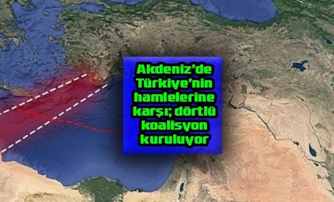 """Akdeniz'de Türkiye'nin hamlelerine karşı Siyonist rejimin desteklediği """"dörtlü koalisyon"""" kuruluyor"""