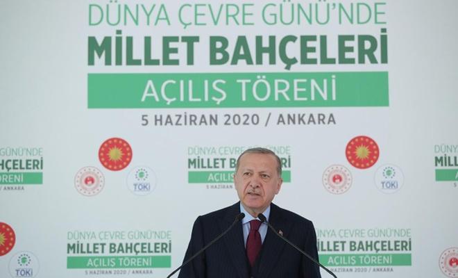 """Cumhurbaşkanı Erdoğan: """"81 vilayetimizin tamamını millet bahçeleriyle donatmış olacağız"""""""