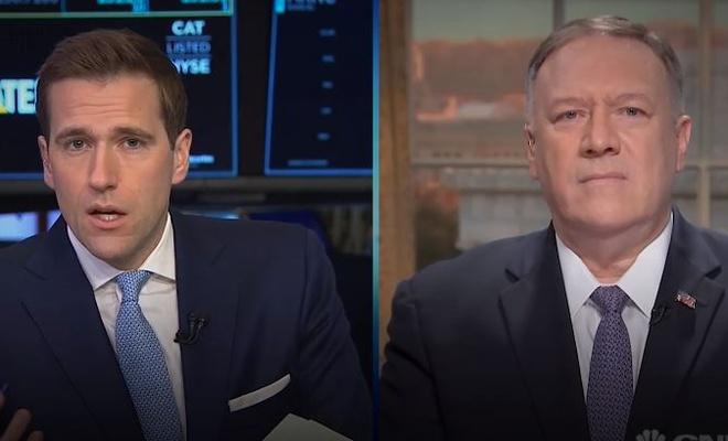 Pompeo ile röportaj yapan CNBC'den dezenformasyon