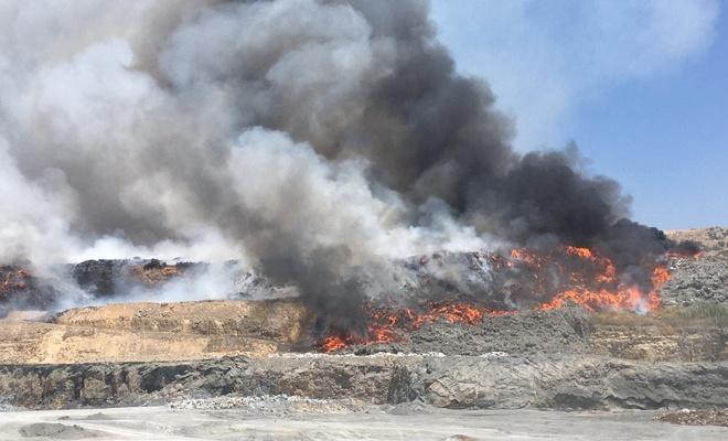Çimento Fabrikasında yangın