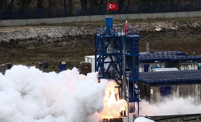 Ay'a gidecek aracın motorunun testi başarılı geçti