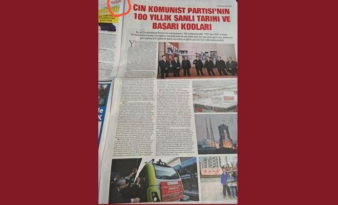 Çin Komünist Partisi'ni Öven Büyük (!) Gazete