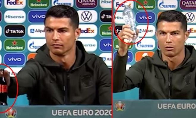 Ronaldo'nun 10 numara hareketi, Coca Cola'ya 4 milyar dolara mal oldu