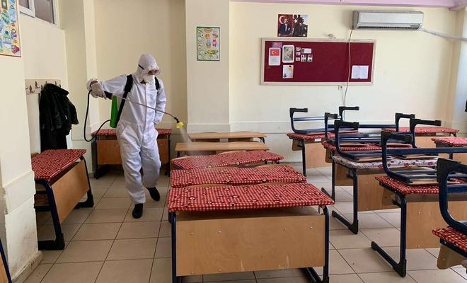 Mardin'deki bin 200 okul dezenfekte edildi