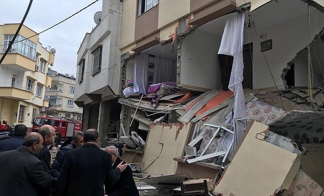 Gaziantep'te doğal gaz patlaması: 4 yaralı
