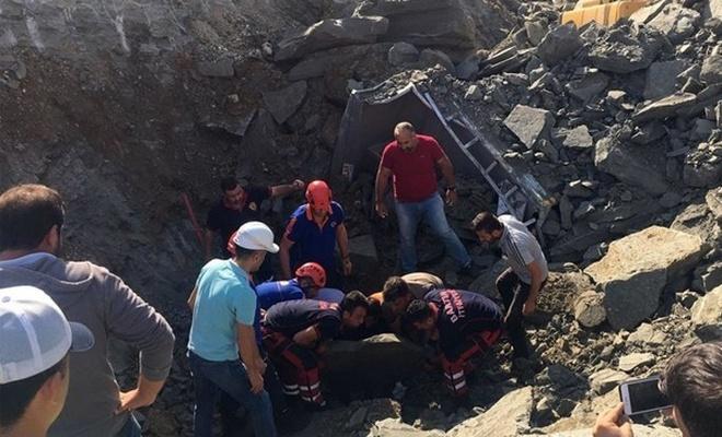 Bartın`da hastane inşaatında göçük: 1 ölü, 1 yaralı