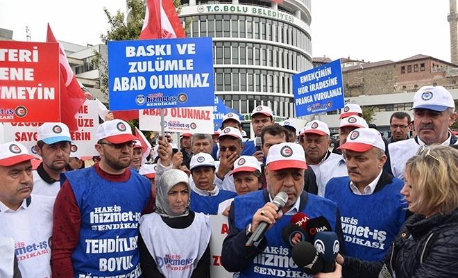 CHP ve HDP'li belediyelerin baskılarına karşı işçiler  Bolu'dan Ankara'ya yürüyecek