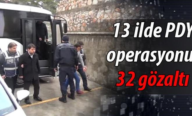 13 ilde FETÖ/PDY operasyonu: 32 gözaltı