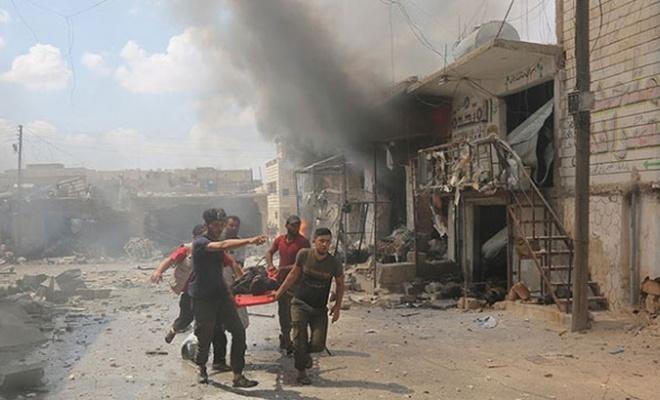 İdlib Gerginliği Azaltma Bölgesi'ne şiddetli hava saldırıları: 17 sivil öldü