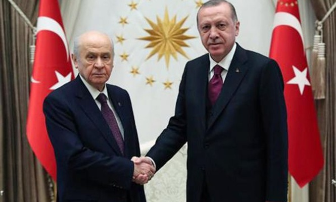 Erdoğan ile Bahçeli görüşmesi sona erdi