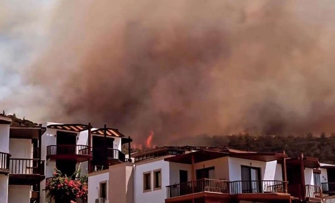 Bodrum ve Marmaris orman yangınlarından 160 kişi etkilendi