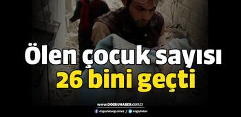 Suriye`de ölen çocuk sayısı 26 bini geçti