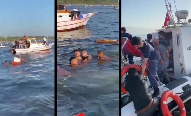 Sahil Güvenlik Botu balıkçı teknesine çarptı: 5 kişi suya düştü