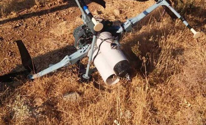 Siyonistlere ait misket bombalı İHA düşürüldü