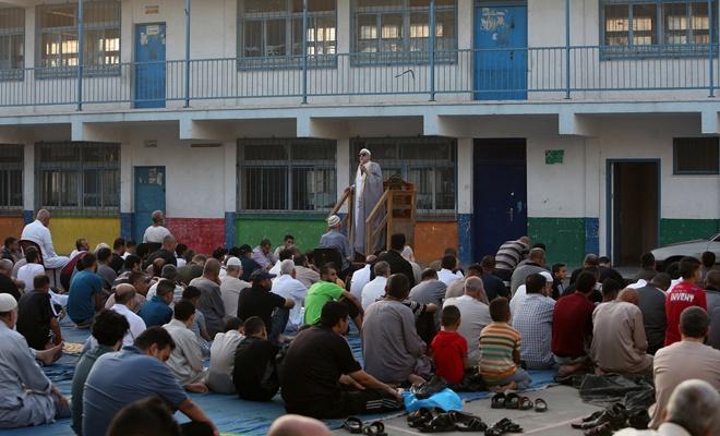 Gazze'deki bayram hutbesinde 'ilhak planı'na karşı birlik çağrısı yapıldı